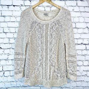 Lucky Brand Open Knit Sweater